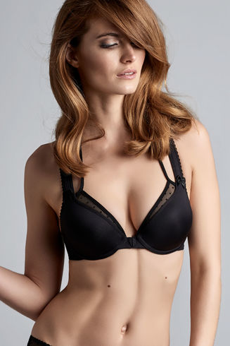Peekaboo Black Push Up Bra