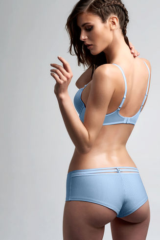 Space Odyssey Serene Blue Push Up Bra