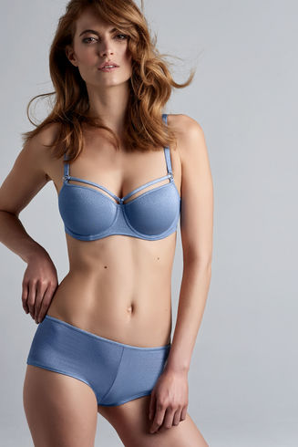 Space Odyssey Sparkling Light Blue Balcony Bra