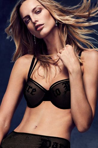 dare to be plunge balcony bra | black and sand