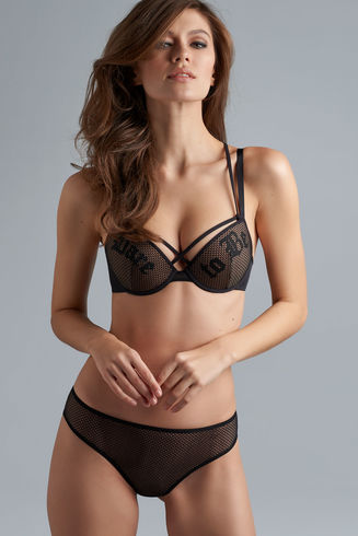 dare to be push up bra | black and sand