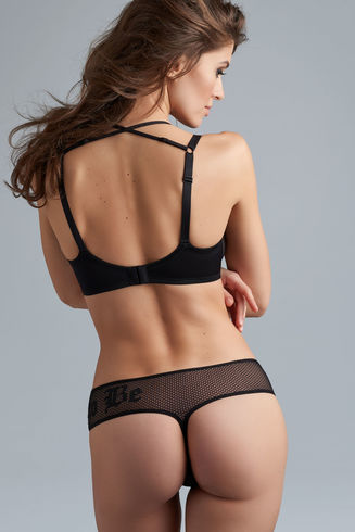 dare to be 7 cm thong | black and sand