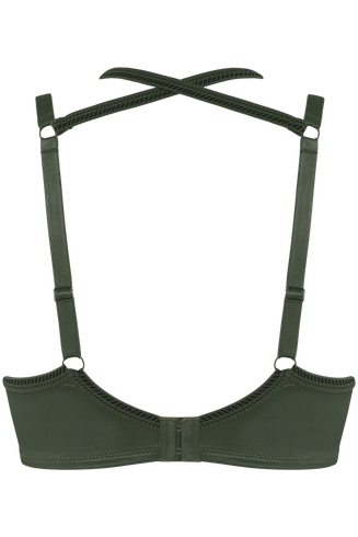 Crown Jewel unpadded balcony bra | pine green