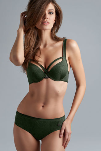 Crown Jewel push up bra | pine green