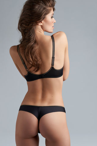 petit point butterfly thong | black and gold dot