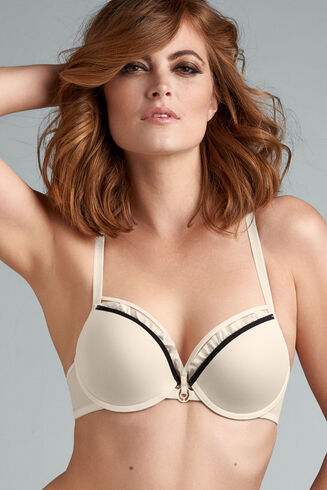 space odyssey push up bra | ivory and black