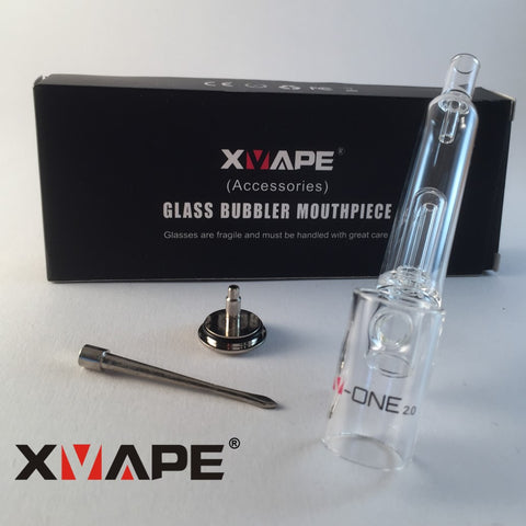 XVape V-One 2.0 Glass Bubbler Mouthpiece & Dab Tool