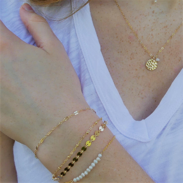 Gold Stacking Bracelets | Chain Bracelets