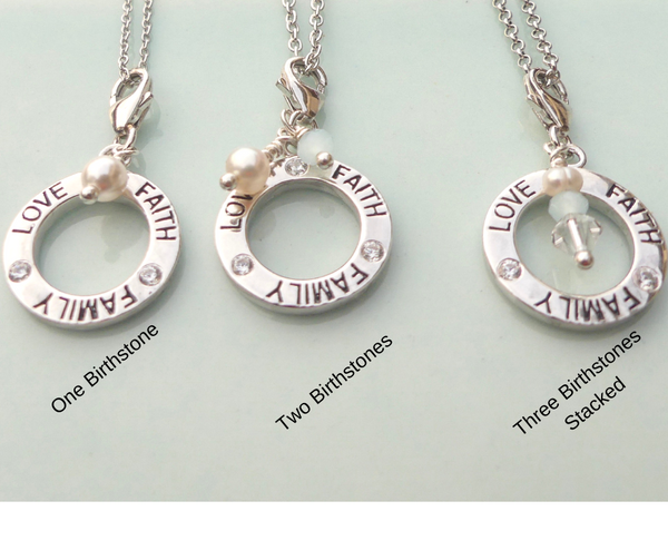 'Mother's Love' Personalized Necklace with Birthstones - im keepsakes