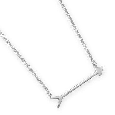 tiny in silver arrow hugerect necklace gold or rose for women product