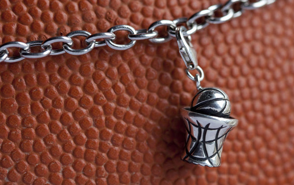 Silver Basketball Charm - im keepsakes
