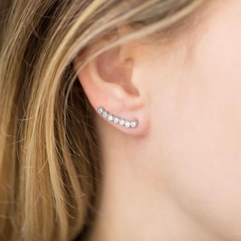 Sterling Silver CZ Ear Climbers - im keepsakes