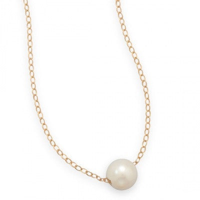 14k Gold Filled Floating Freshwater Pearl Necklace - im keepsakes