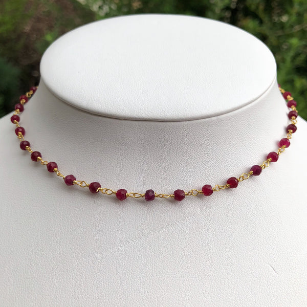 Ruby Choker Necklace - im keepsakes