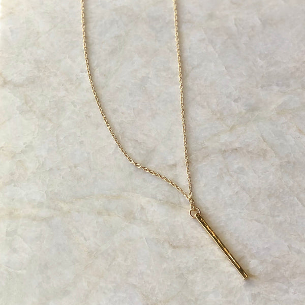 Long Gold Bar Necklace - im keepsakes