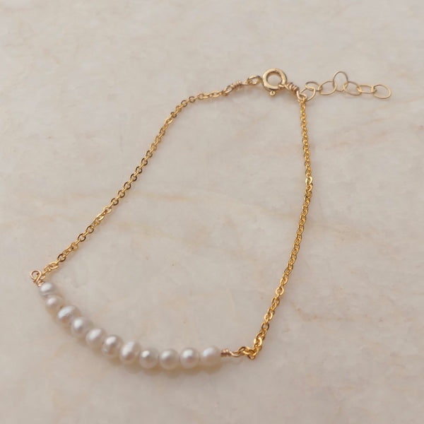 Pearl Stacking Bracelet | Gold