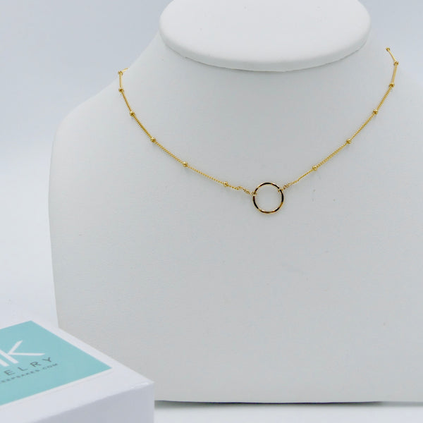 Gold Eternity Circle Necklace - im keepsakes