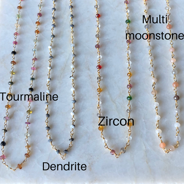 Gemstone Choker Necklaces in Gold Vermeil - im keepsakes