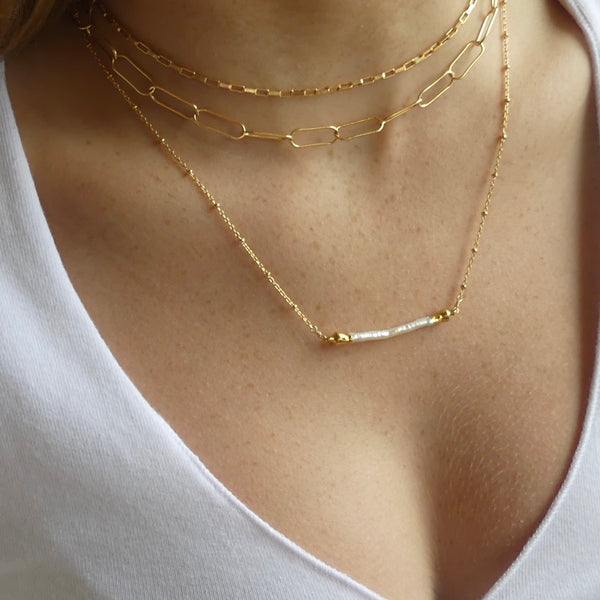 Box Chain Gold Choker Necklace | IMK Jewelry - im keepsakes