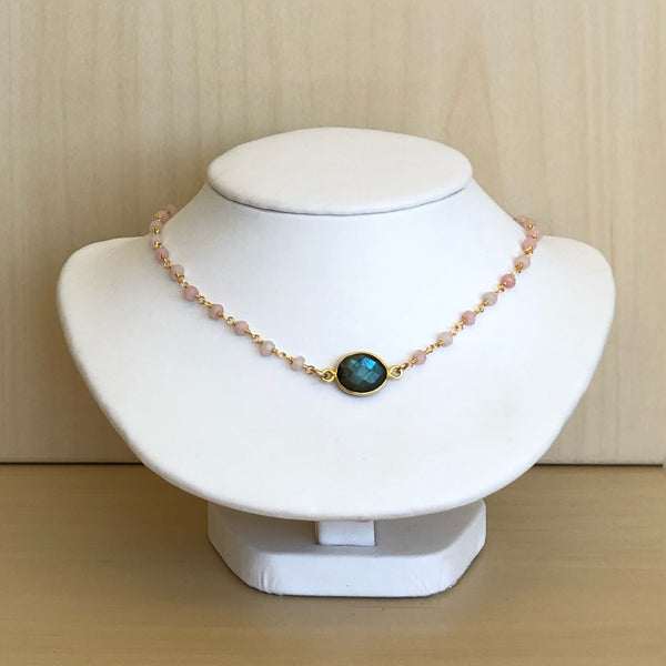 Beaded Chokers with Gemstone Focal