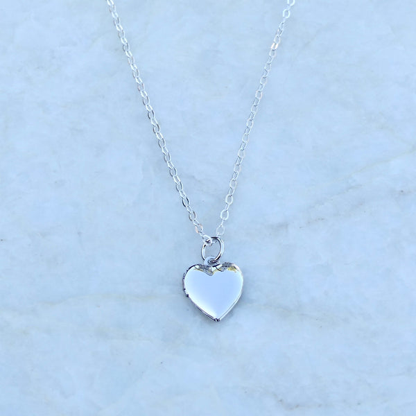 Dainty Heart Locket | Sterling Silver