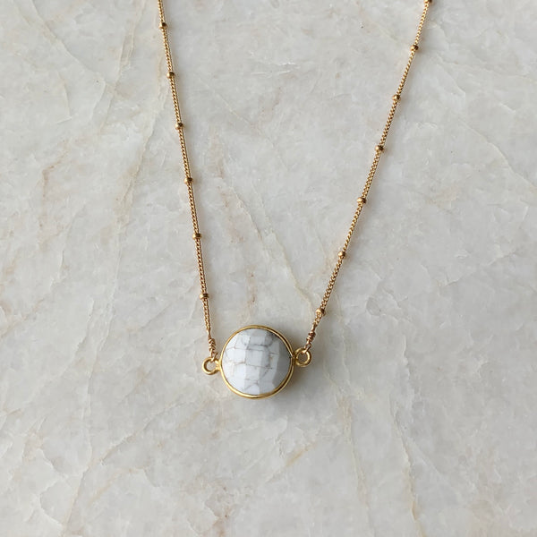 Howlite Gemstone Focal Necklace