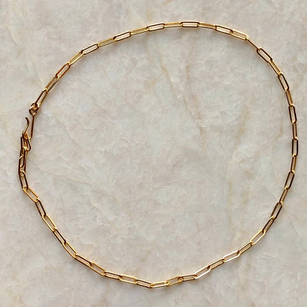 Long Link Chain Gold Choker Necklace