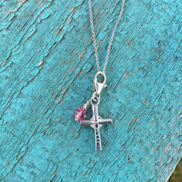 Cross Charm - Blessed - im keepsakes