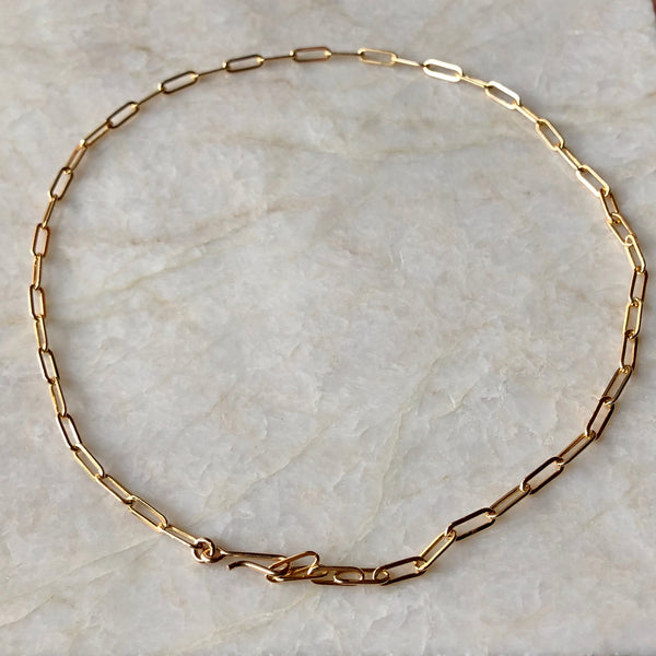 Long Link Chain Gold Choker Necklace - im keepsakes