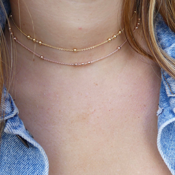 Gold, Rose Gold or Silver Ball Choker Necklace - im keepsakes