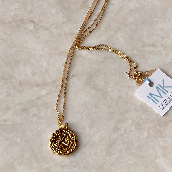 Gold Coin Necklaces - im keepsakes