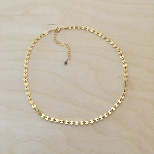 Gold Charm Cluster Choker Necklace - im keepsakes