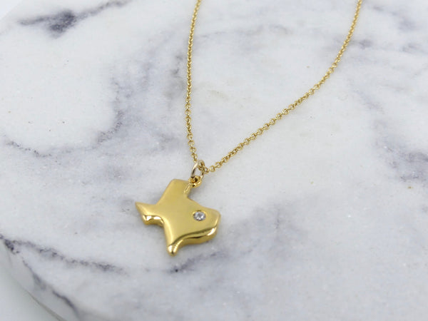 Gold Texas Cut-Out Necklace - im keepsakes