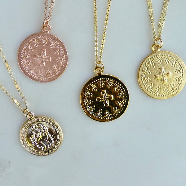 St. Christopher Medallion Necklace - im keepsakes