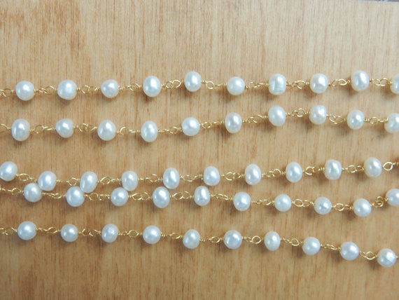 Gold Pearl Choker Necklace - im keepsakes