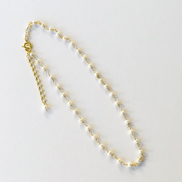 Gold String of Pearls Choker Necklace - im keepsakes
