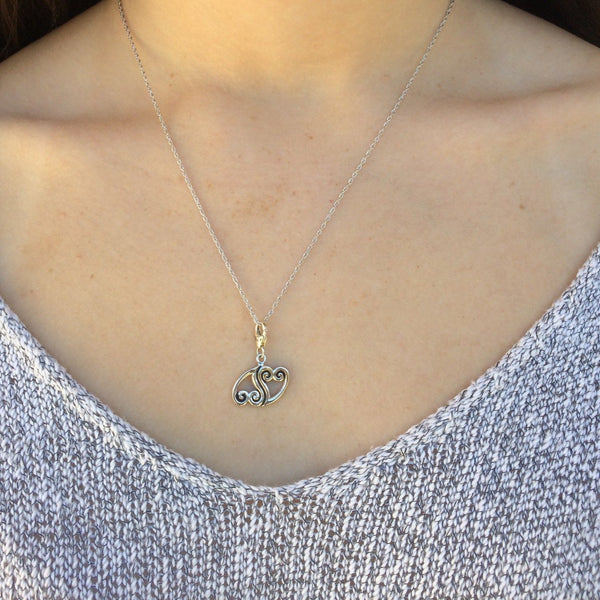 'Perfect Pair' Double Hearts Charm Necklace - im keepsakes