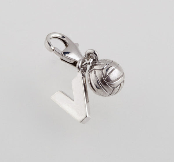 Sterling Silver Volleyball Charm - im keepsakes