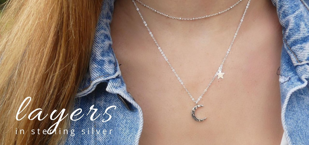 STERLING SILVER LAYERING NECKLACES  | IMK JEWELRY