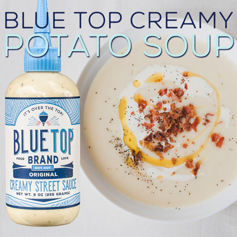 Easy Creamy Blue Top Potato Soup