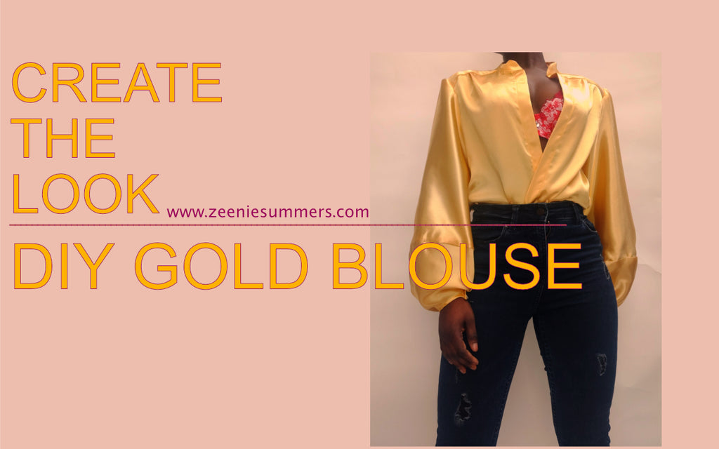 DIY Gold Satin Blouse | Free Pattern Design Tips