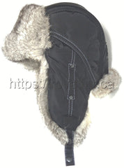 "Rabbit Fur ""Ushanka"" Trapper Hat Grey - Photo by Royal Fur"