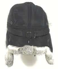 Rabbit Fur Original Trapper Hat Grey Photo - Royal Fur
