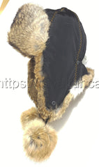 Rabbit Fur Hat Original Natural Color Photo - Royal Fur