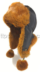 Rabbit Fur Hat Original Brown Photo - Royal Fur