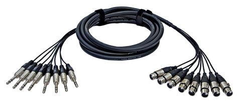 Analog cable, 8 XLR female <> 8 TRS, 2m