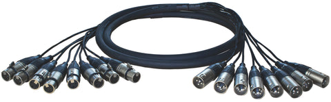 Analog cable, 8 XLR male <> 8 XLR female, 5m
