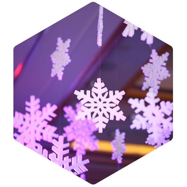 Snowflakes 380mm 12 Pack - SnowSouq.com by Desert Snow