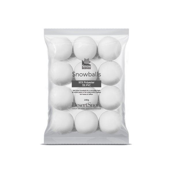 Soft Throwable Snowballs Pack of 12