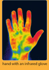 hand with infrared glove results